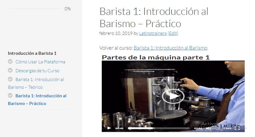 Barista 1: Introducción al barismo